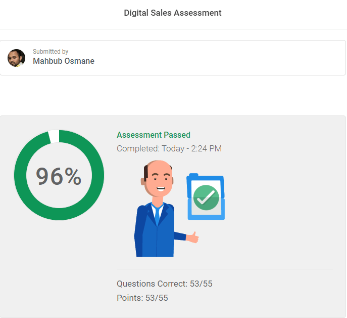 Certified Digital Sales Assessment Mahbub Osmane