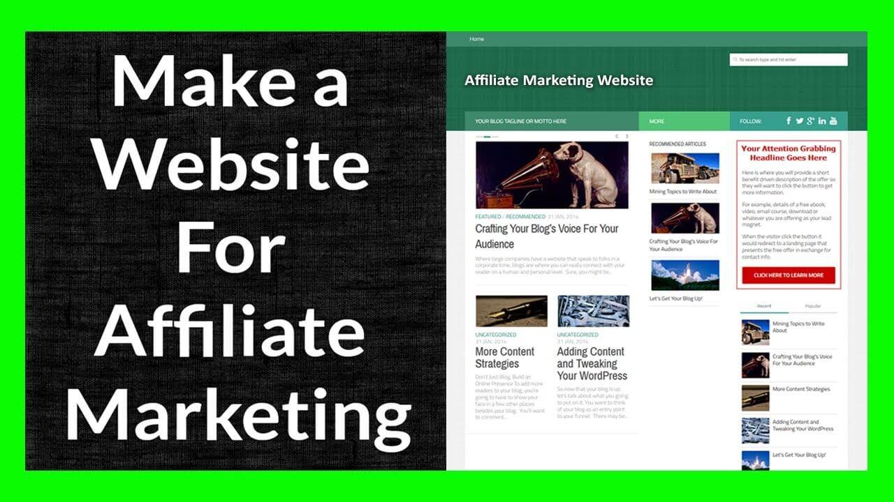 Affiliate Website Building Service