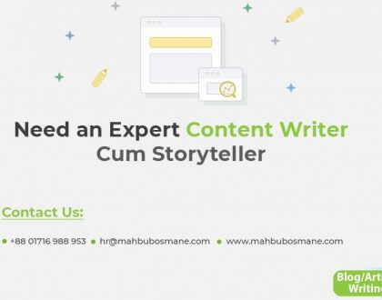 Need an Expert Content Writer Cum Storyteller