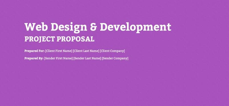 Web Development Proposal