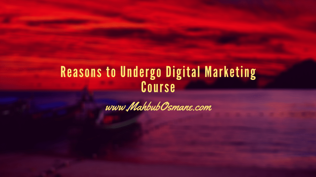 Reasons to Undergo Digital Marketing Course