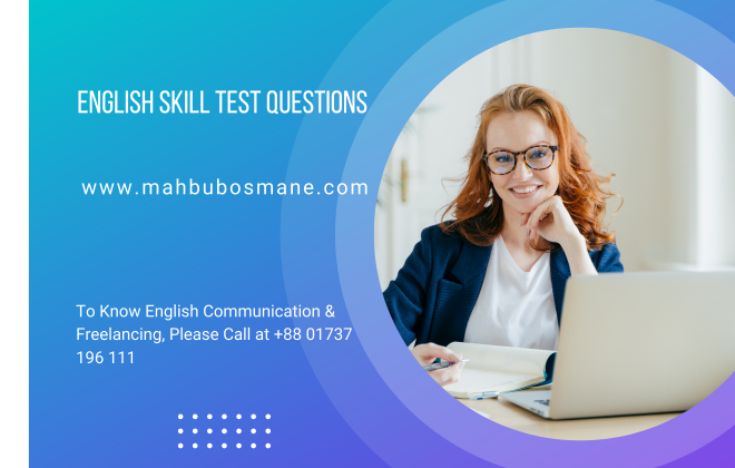 English Skill Test Questions